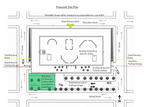 Site Plan-Hand Drawing