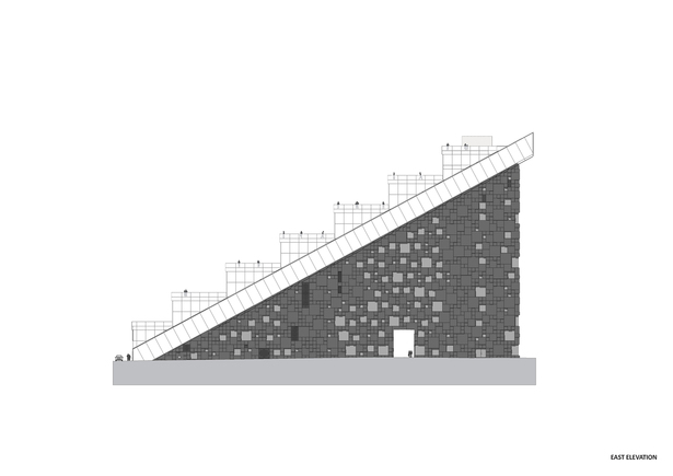 East elevation. Copyright © Dark Arkitekter