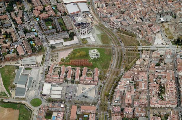 Biblioteca Sant Cugat_vista aerea