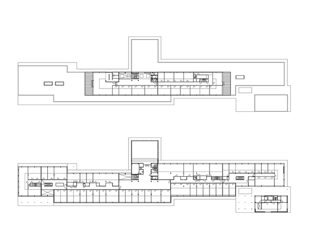 Claus en Kaan Architecten / First and Second Floor plans