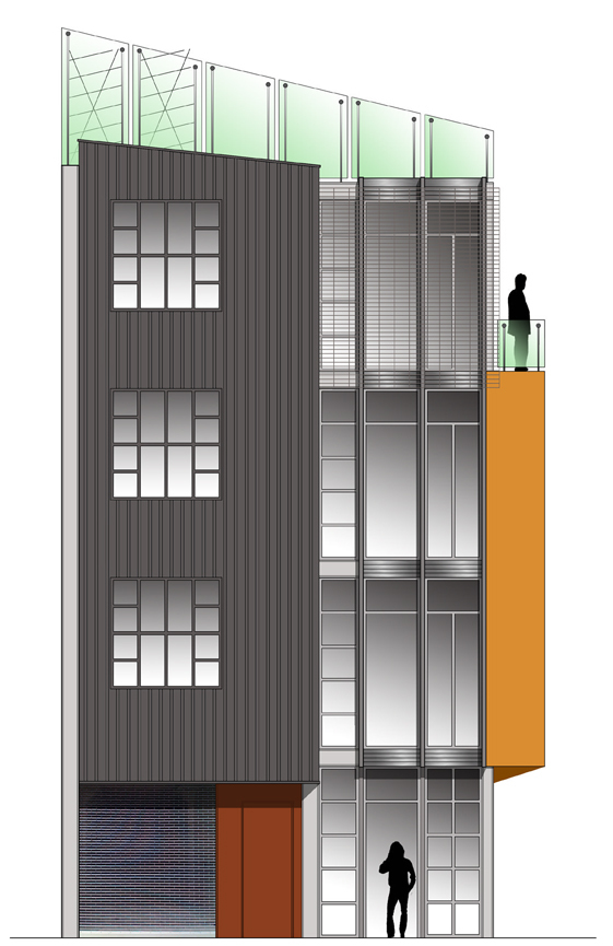 rendering of north facade for neighborhood review