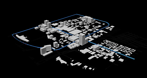 Render - Aerial View of People-Mover System