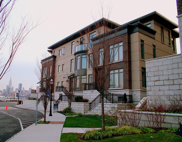 SIDE VIEW OF TYPICAL TOWNHOUSE CLUSTER