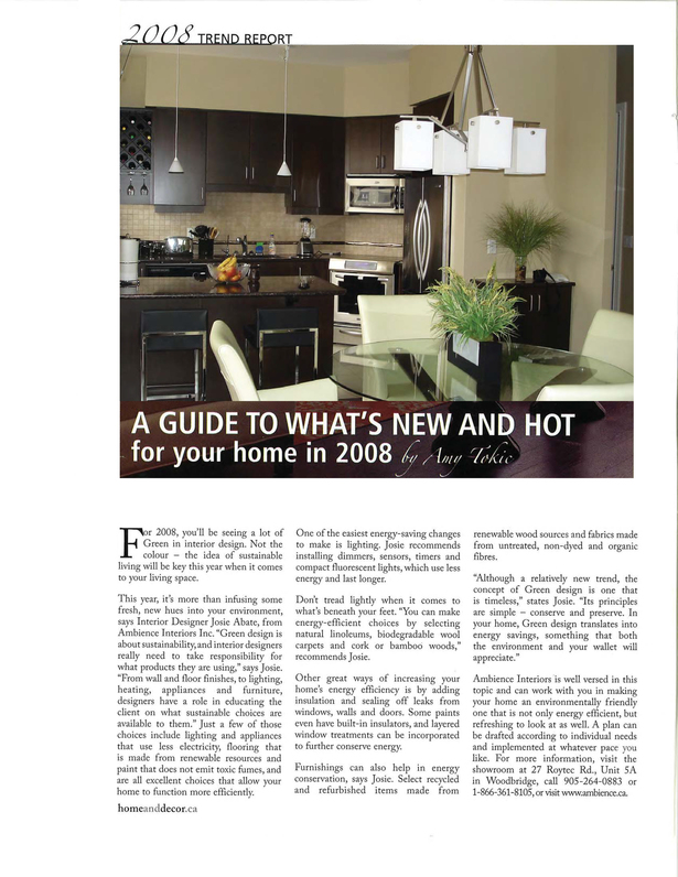 A guide to what's NEW and HOT for your home!