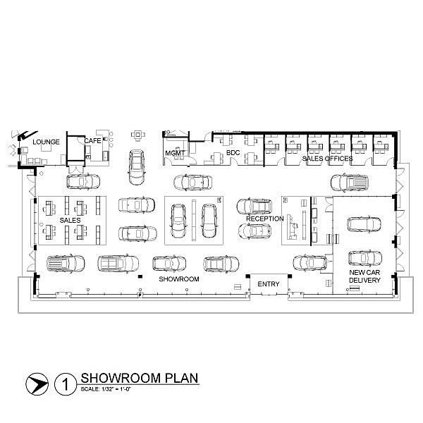 Enlarged Showroom
