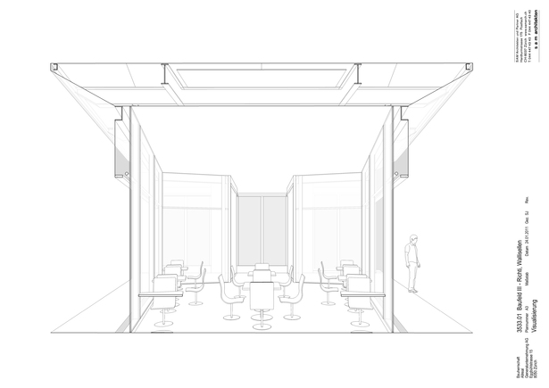 Restaurant structural perspective section