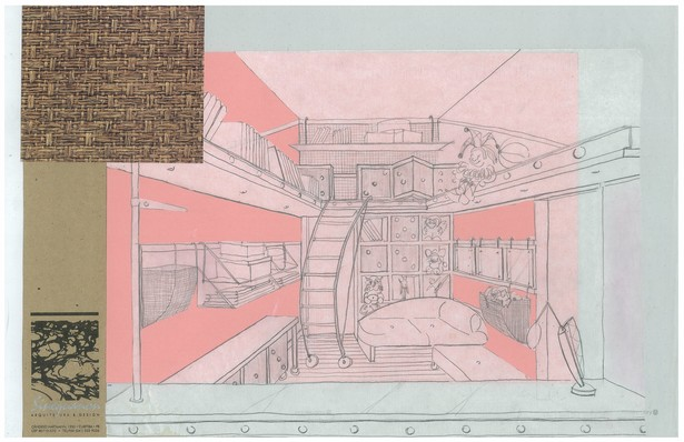 Twins' Playroom | Interior Hand-Sketch