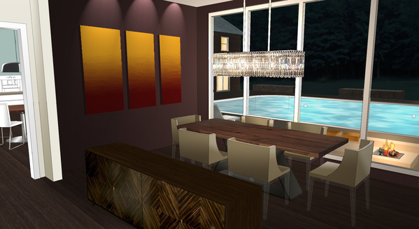 Dining Room rendering.