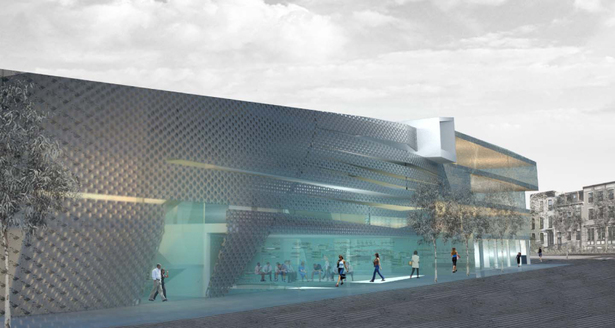Conceptual render of facade
