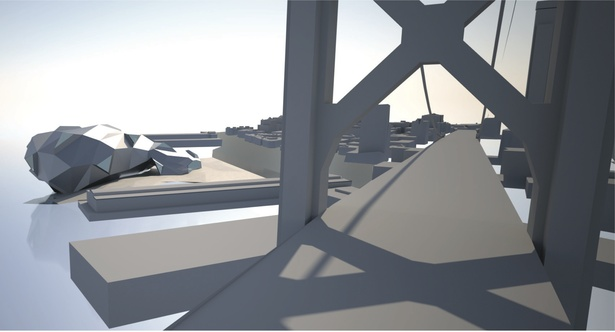 Rendering-view from bridge