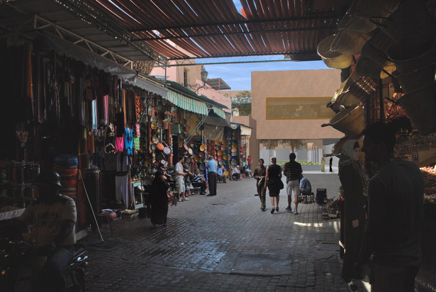 View through souk (market) of entrance