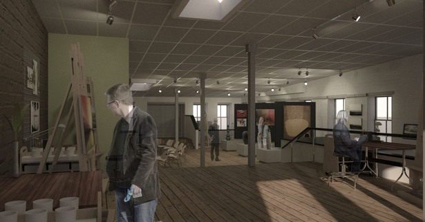 Carriage Factory Gallery. Proposed Second Floor Studio Space. Phase 3