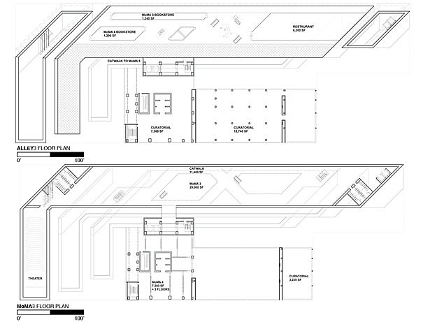 Fifth Floor Plan - Alley 3 and Sixth Floor Plan - MoMA 3