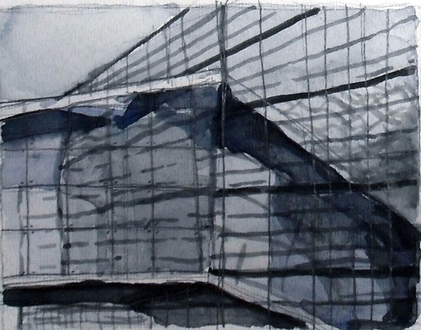Perspective of Glass: watercolor + graphite