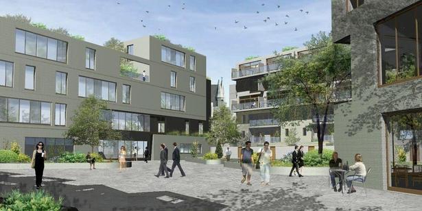 Outline Design for new public Plaza