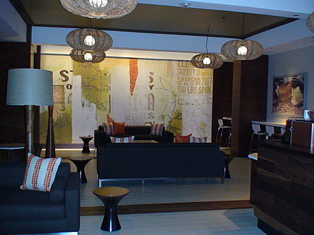 seating area and artwork