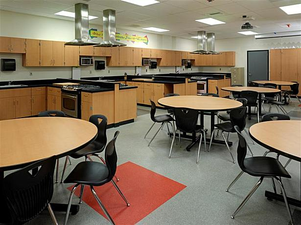 Modernized Food Service (HomeEc) Classroom