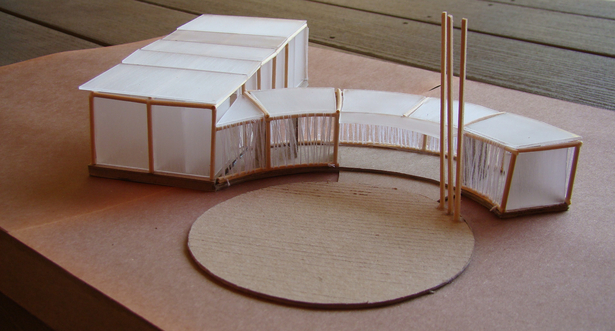 Study model, view from the