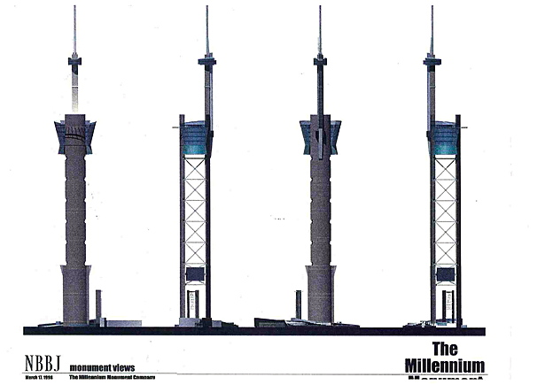 Elevation views of proposed tower