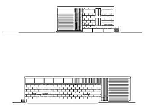 Elevation South and West