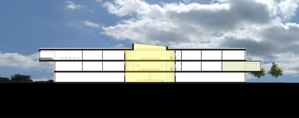 NLCP academic building section (AutoCAD,Adobe Photoshop)