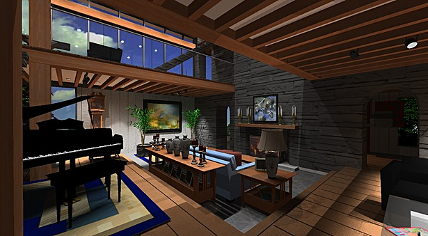 Interior Design, Living Room, Millerton House