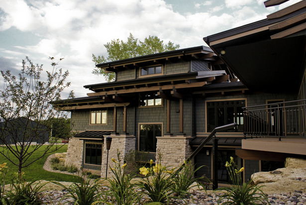 Karr Residence. West Exterior. Outdoor Living.