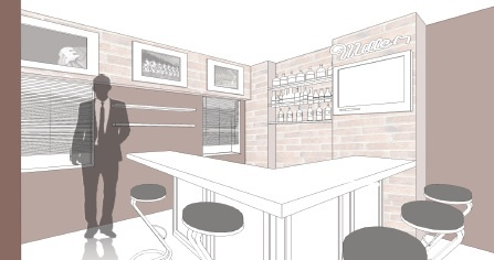 Home Sports Bar SketchUp Render