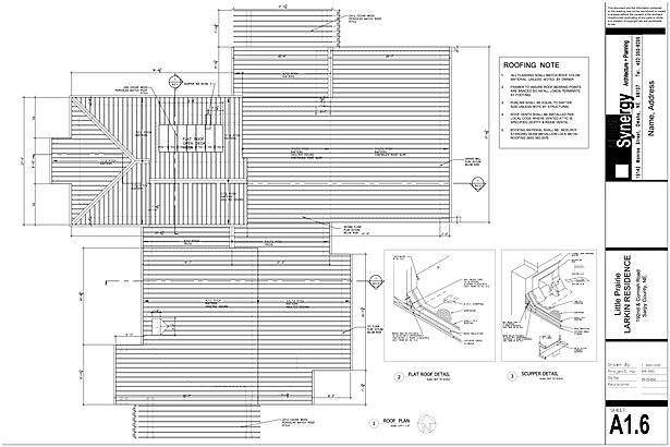 Roof Plan - Synergy Architect + Planning