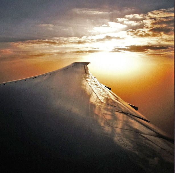 Looking down at the arabian desert