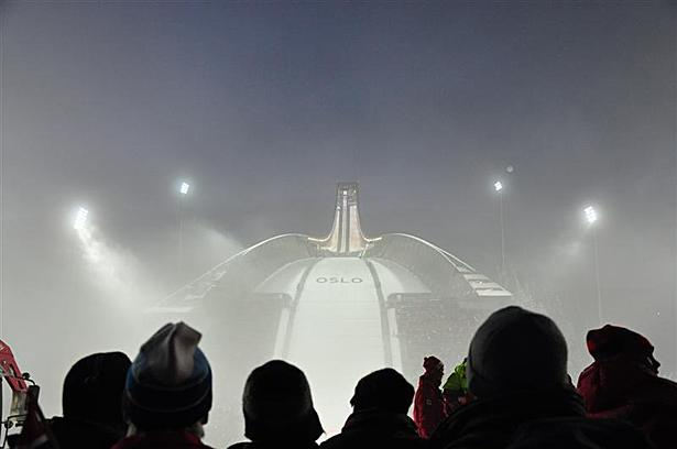 Holmenkollen in the fog