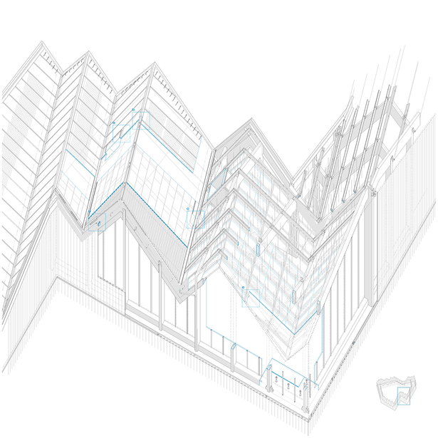 construction axonometric view