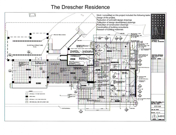 The Drescher Residence-plan