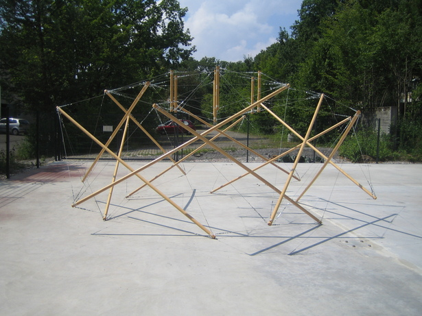 Tensegrity dome - prototype