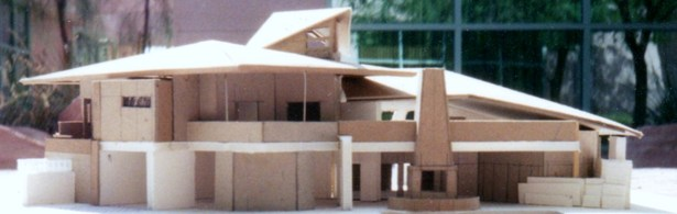 massing model, rear elevation