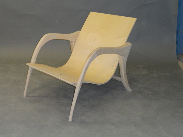 Loungechair without upholstery