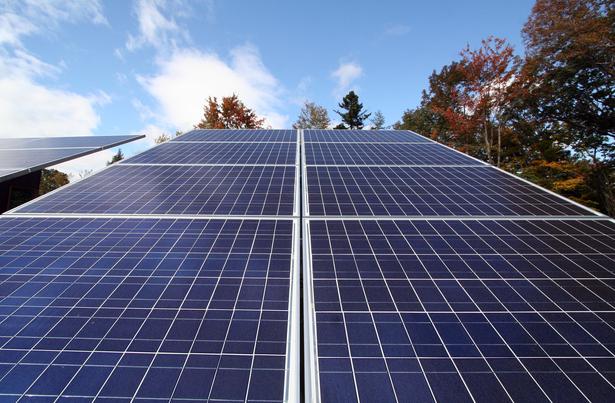 Vermont Cabin solar panels, © RES4