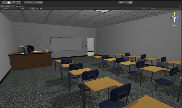 Classroom, light mapped.