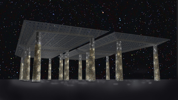 A UAP pavilion design I rendered.