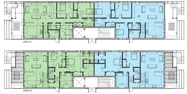 Duplex floor plans