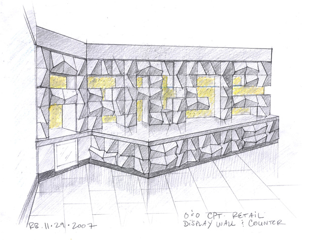 Retail Shelving Sketch