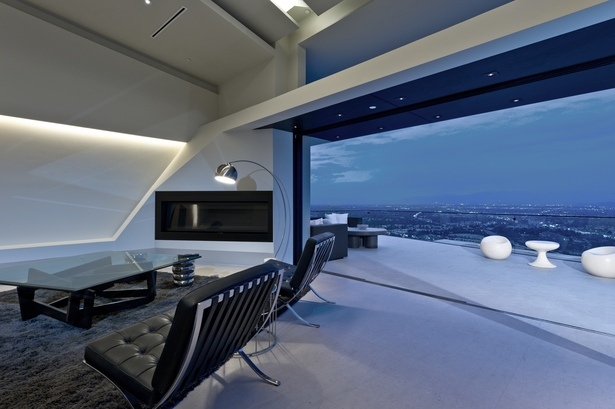 View northwest, from grand room toward upper deck (photo:Marc Angeles [Unlimited Style Photography])