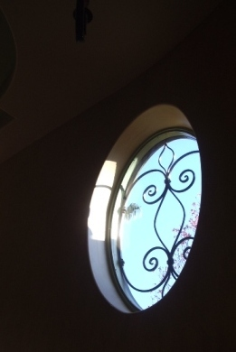 custom iron window