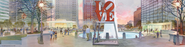 Love Park. Rendering by Art and Design Studios