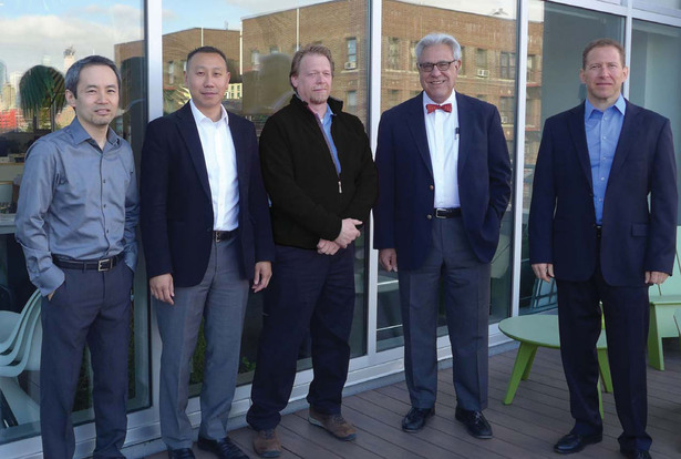 From left to right: Kenji Suzuki, AIA; Ricky Liu, AIA, LEED AP; Paul Albert, AIA; John di Domenico, AIA, LEED AP; Andrew Berger, AIA, ASLA