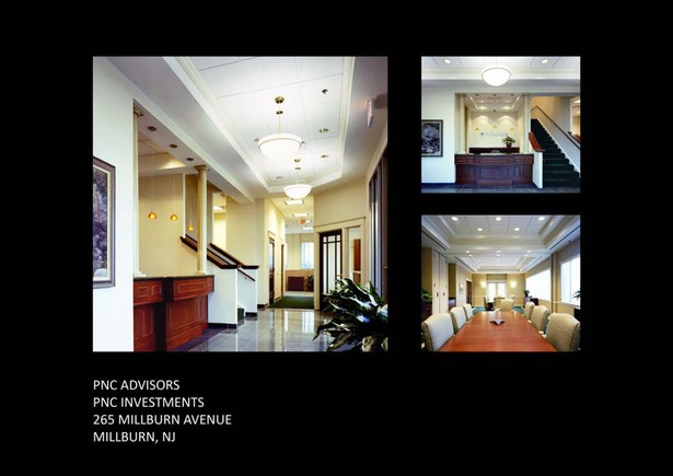 Images of the entrance lobby and second floor conf. room