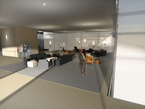 Student Lounge - Rendered in Podium and entorage added in Photoshop