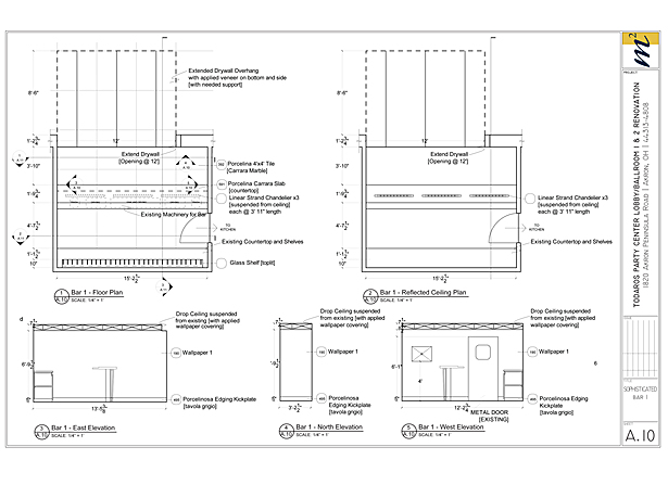 Bar Plans/Elevations