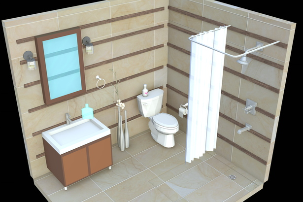 Render of the bathroom (With a polish girlmate, exercise)
