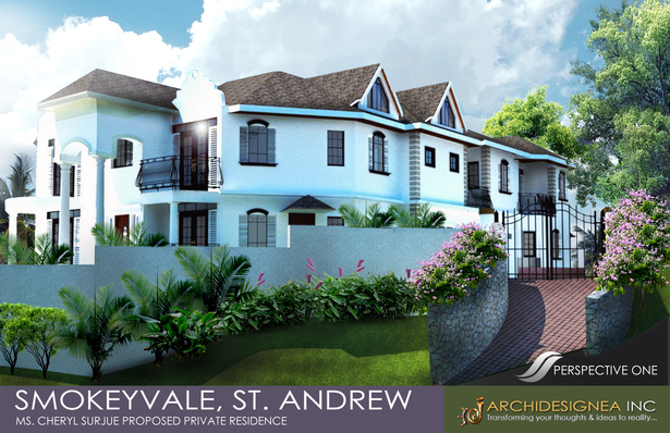 Partial Front Facade of the Proposed Private Residence